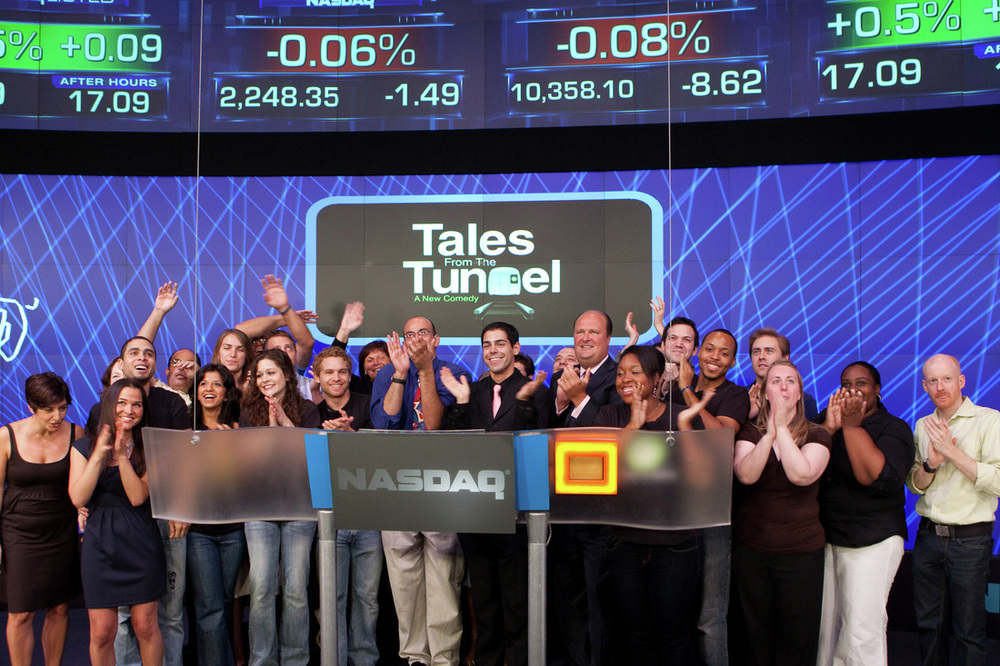 NASDAQ invites the Cast and Crew from TALES FROM THE TUNNEL to ring their Closing Bell on July 15, 2010.
