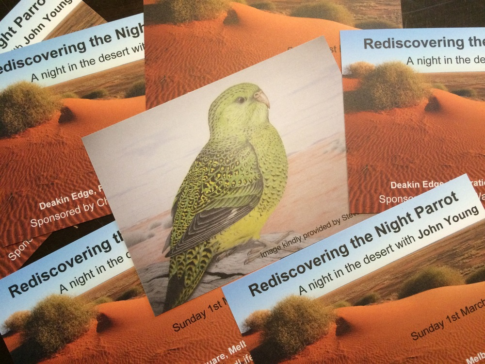 John Young presents: Rediscovering the Night Parrot. Get your tickets while they last.