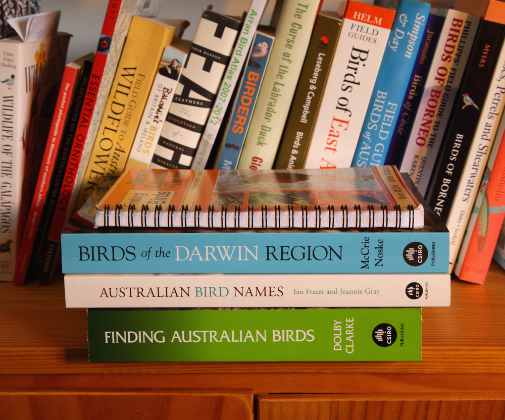 Birds of the Darwin Region with some other familiar volumes for size comparison. There is a lot in this book.