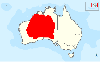 The distribution map for Princess Parrot from the Department of the Environment. Easy, just look in the red bit right?