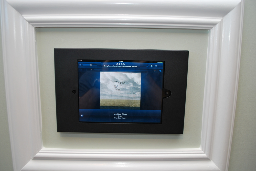 Ipad that controls our security system, home audio, and our HVAC systems
