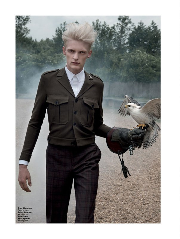 Flemming – Editorial for Men's Folio Singapore by Estelle Klawitter – Saint Laurent, Dior Homme, Salvatore Ferragamo