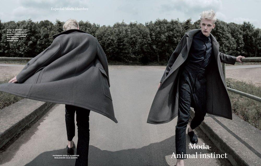 Flemming – Editorial Vanidad Spanen, Fotografin: Estelle Klawitter – Hermes, Yohji Yamamoto, Giorgio Armani, Comme des Garcons Homme Plus