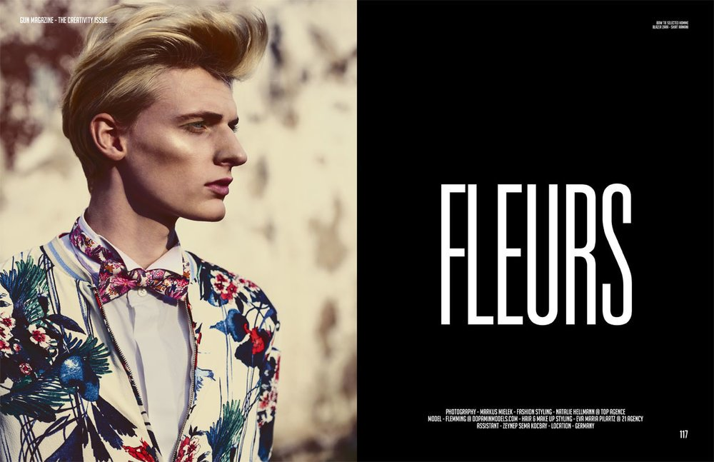 Flemming – Editorial for Fashion GUN Magazine Netherlands by Markus Mielek Dortmund