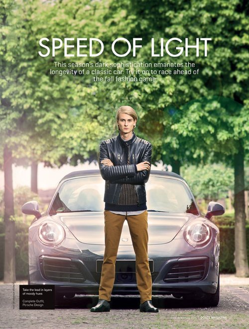 "Kennet by Claudius Holzmann ""Porsche Design"" editorial for Dolce Vita Luxury Magazine Canada with Porsche 991 Targa 4S (2016)"
