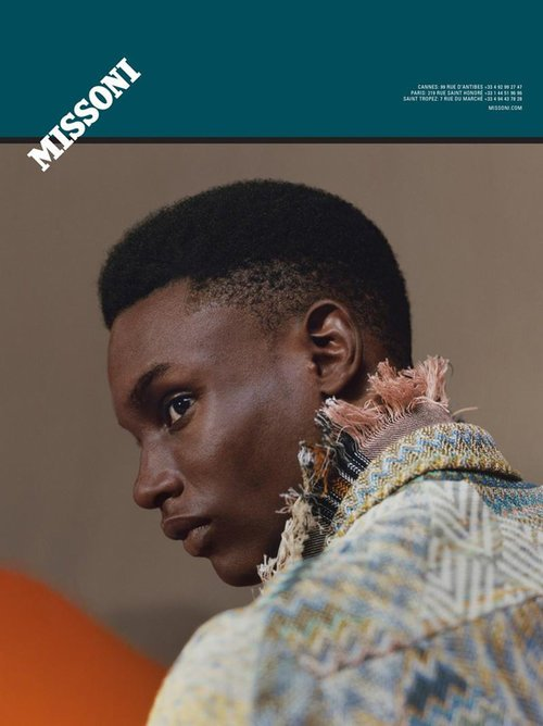 Victor Ndigwe Missoni Advertising Campaign S/S 16 – Photographer: Harley Weir