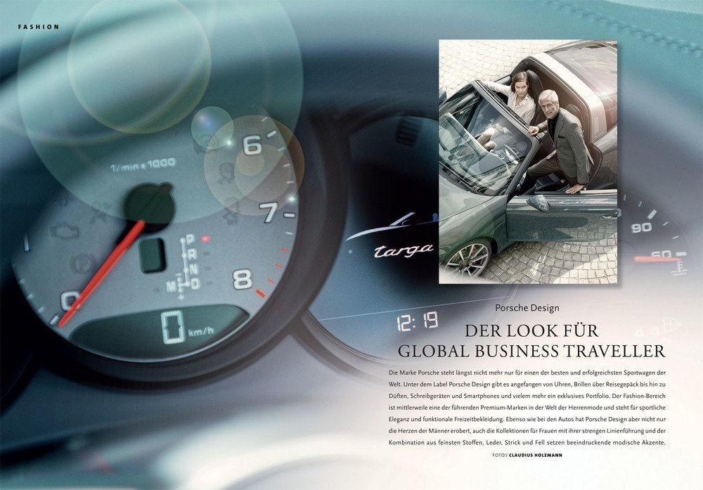 "Mode-Editorial ""Porsche Design"" für HIGH LIFE Magazin"
