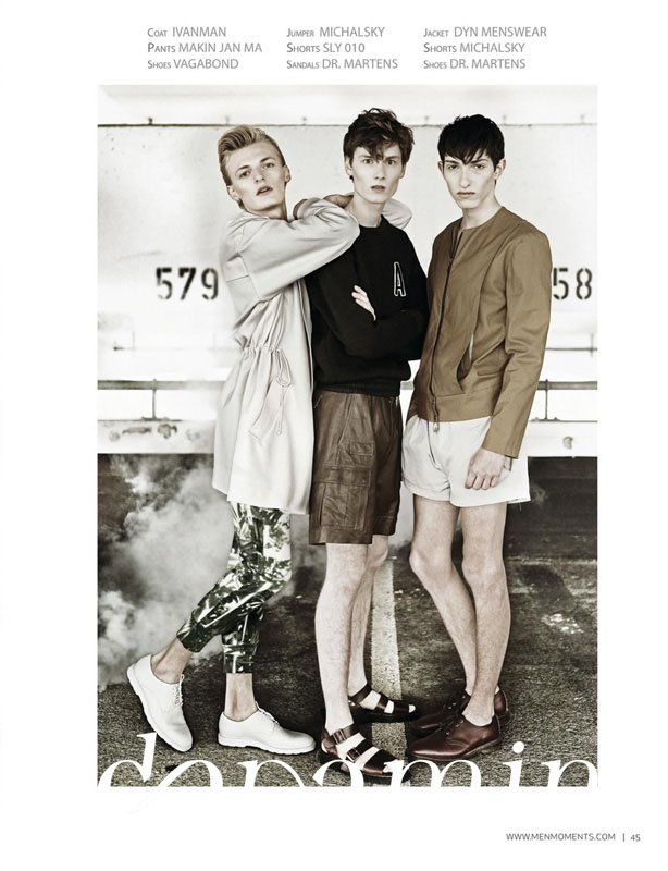 "Flemming & Helge & Pascal – Mode-Editorial ""The Fog"" für Men Moments Magazine"