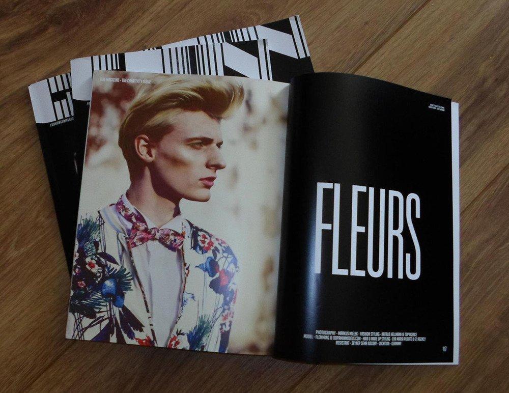"Flemming @ DOPAMIN MODELS Düsseldorf –Editorial ""FLEURS"" in GUN Magazine Netherlands– Photographer Markus Mielek Dortmund"