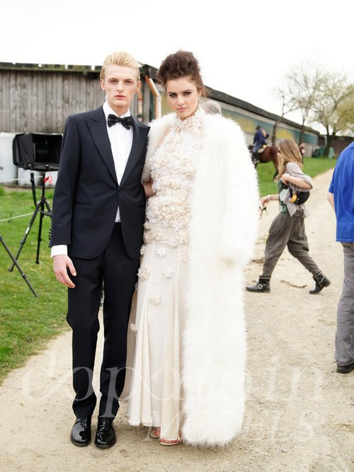 "making-of Mode-Editorial ""La Confiance"" für Dolce Vita Luxus-Magazin Kanada, Models: Flemming & Melanie"