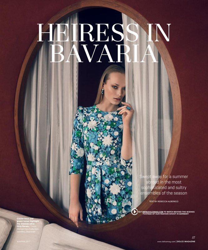 "Dolce Canada Editorial ""Heiress in Bavaria"" by Bela Raba München, p. 57"