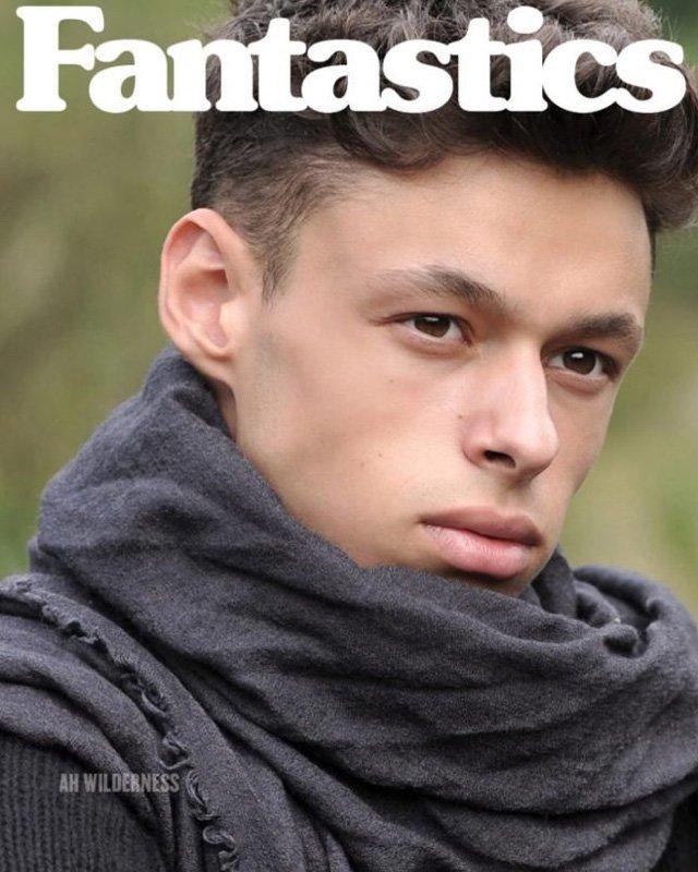 Fabrizio @ DOPAMIN Modelagentur Düsseldorf, Fotograf Arno Ende, Cover Fantastics Magazine