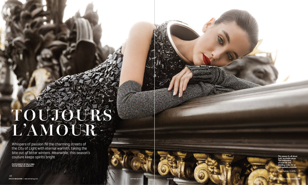 """Dolce Canada Editorial """"Toujours L'Amour"""" by Bela Raba München, p. 52-53"""