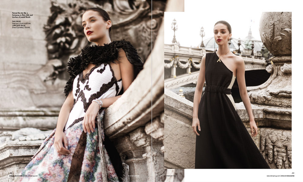 """Dolce Canada Editorial """"Toujours L'Amour"""" by Bela Raba München, p. 54-55"""