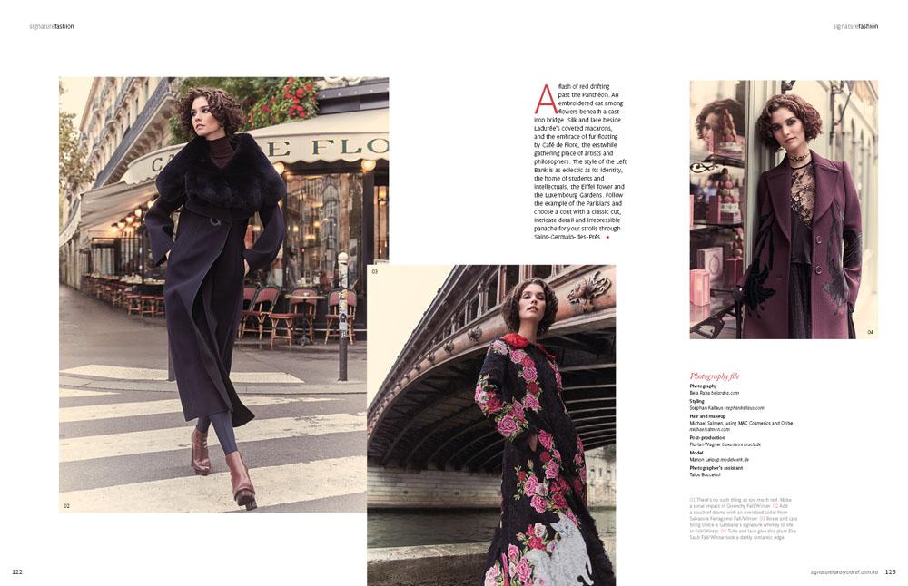 """Signature Luxury Travel & Style Australia Editorial """"Rive Gauche Chic"""", Fotografin: Bela Raba München"""