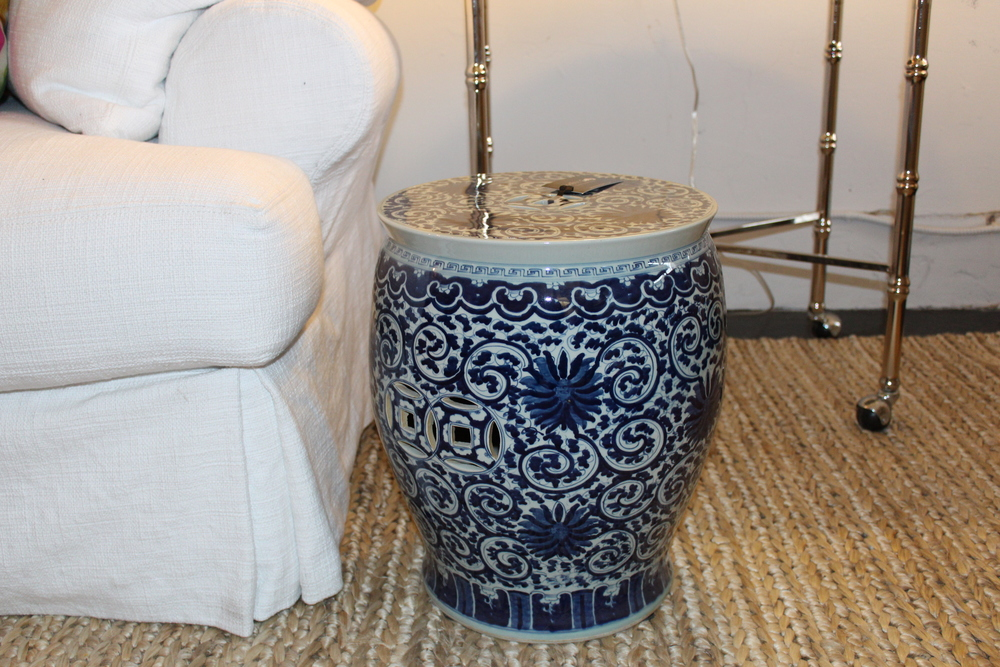 TWISTED LOTUS DRUM STOOL