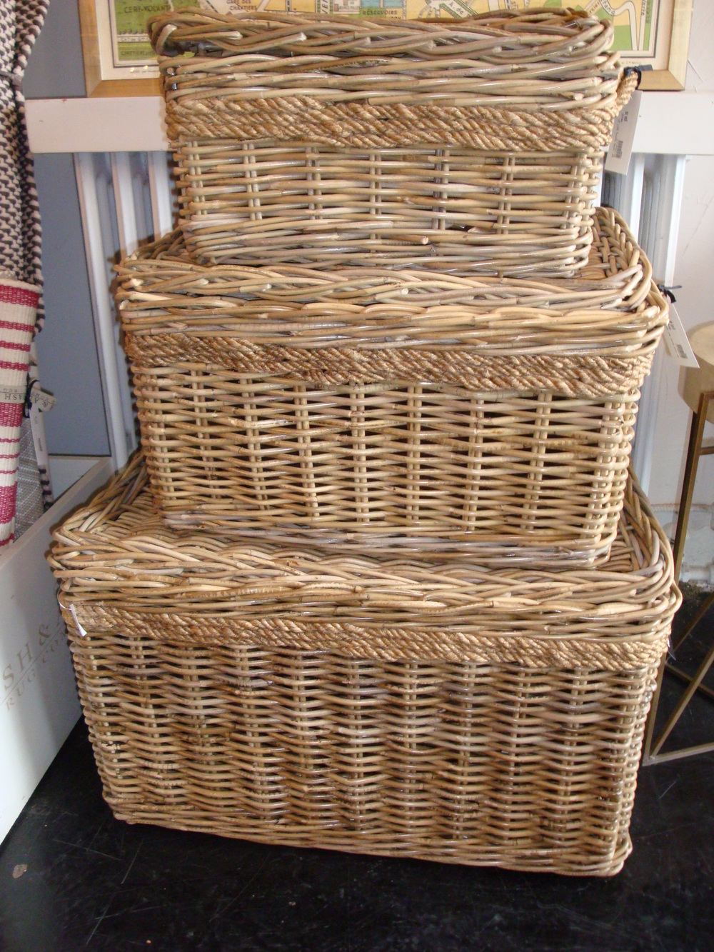 Wicker Art Shore Baskets