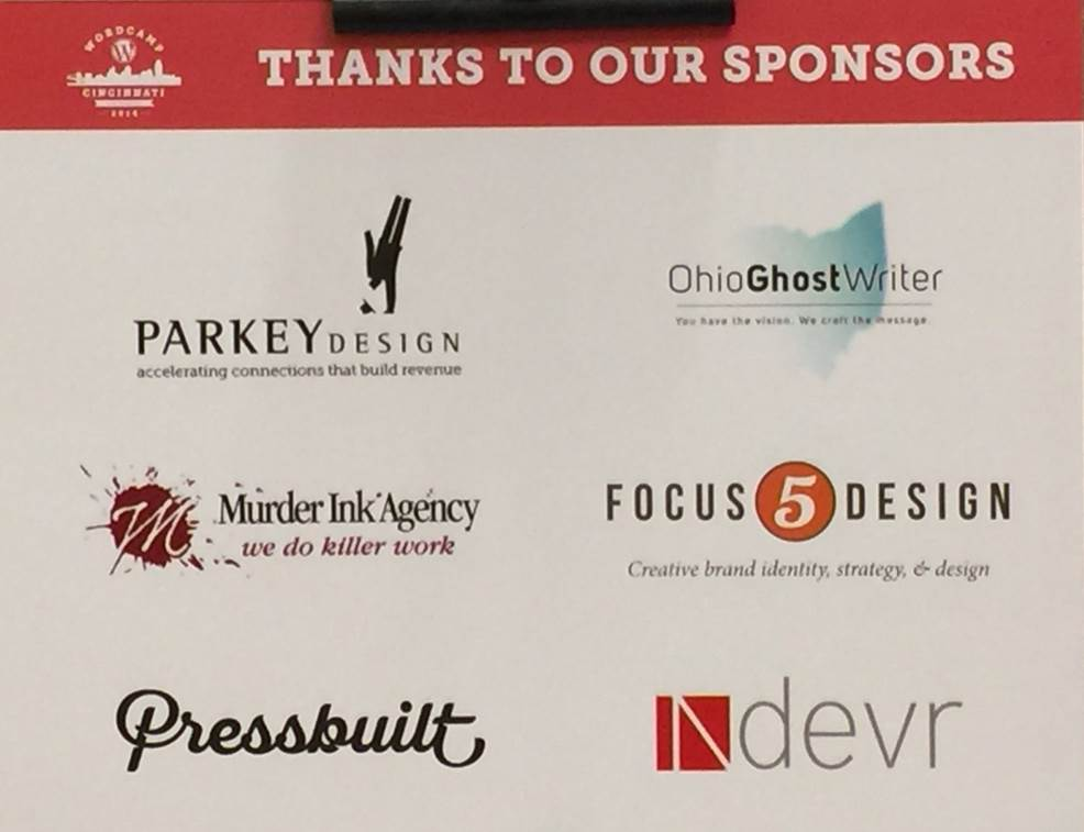 WordCamp Cincinnati 2016 Small Business Sponsors