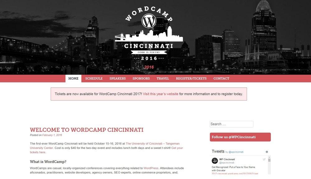 WordCamp Cincinnati 2016 Had An Award Winning Inaugural Year.
