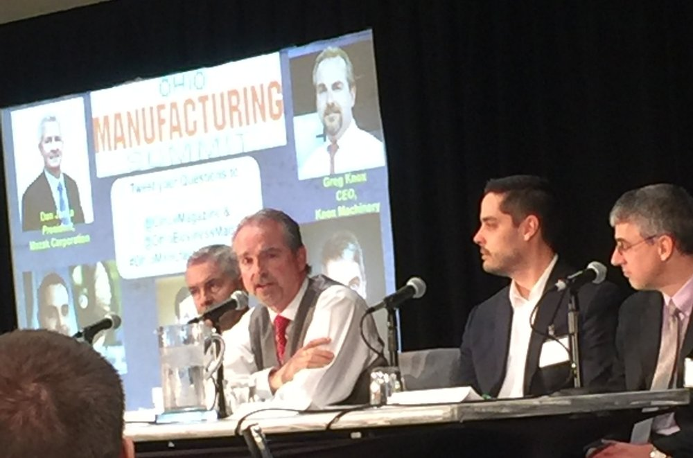 Ohio Manufacturing Summit Thought Leadership Panel Including Dan Janka, Greg Knox, Josh Mook, and Pete Zelinski