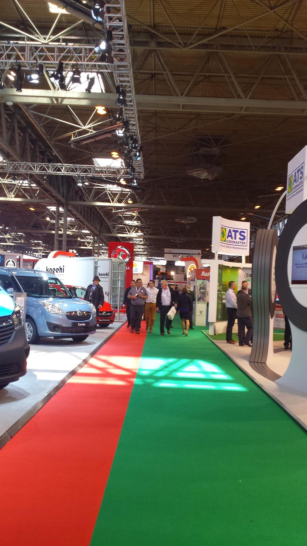 commercial vehicle show walkway