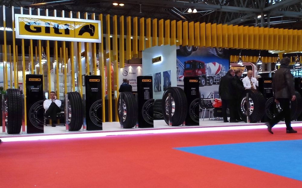 Image of Giti Tyre Stand - Commercial Vehicle Show 2017