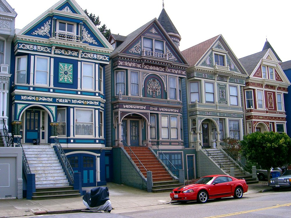 San Francisco's Painted Ladies- Peachy Pixel