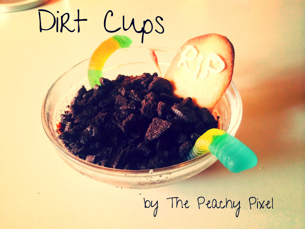 Dirt Cups- Peachy Pixel