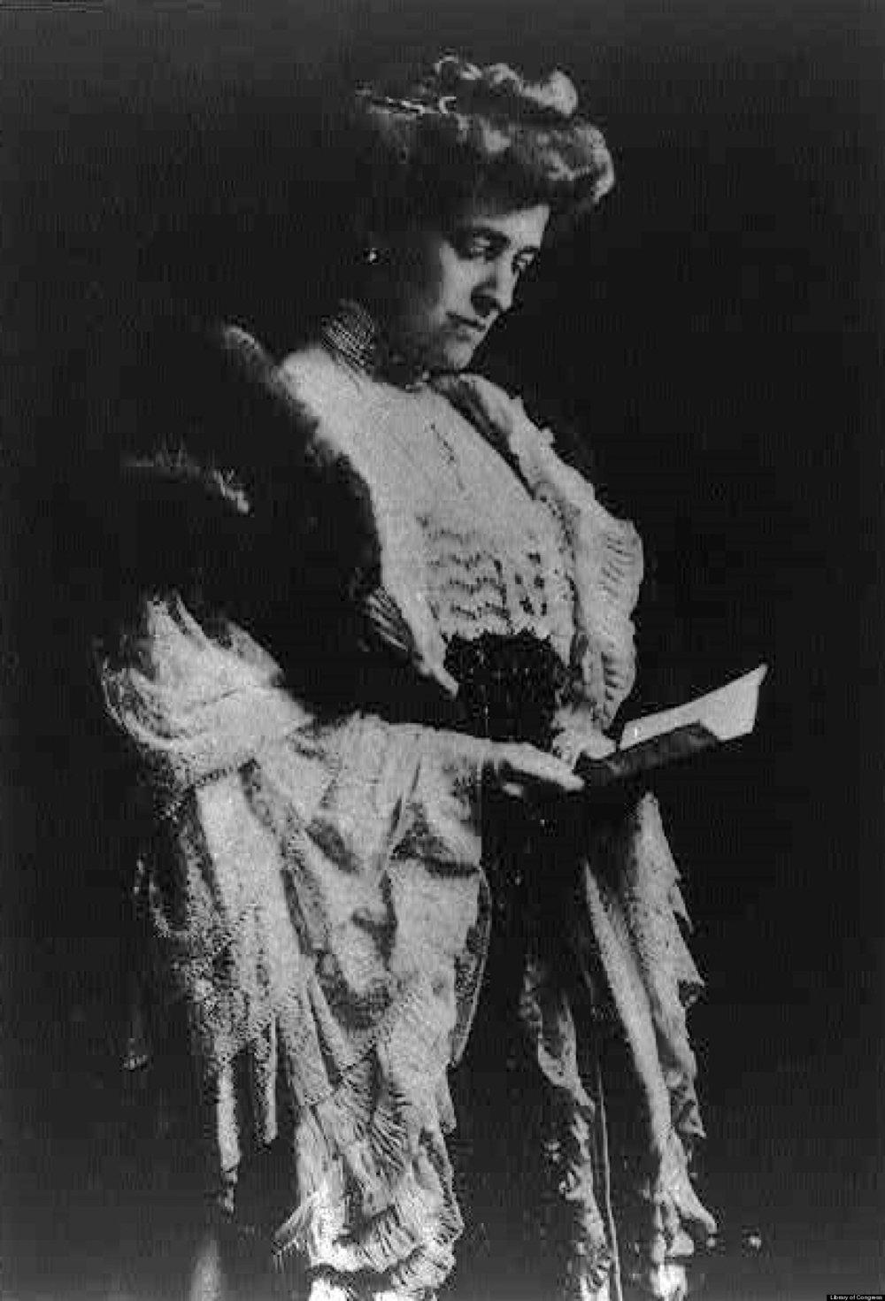 The lady herself, Edith Wharton.