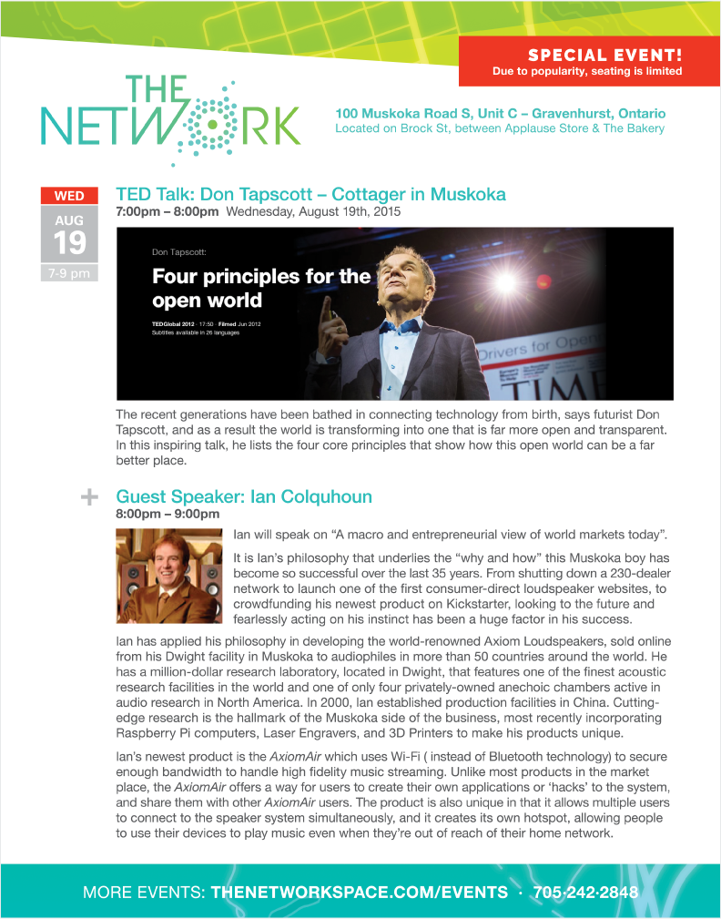 The NetWork special event August 19, 2015 at 7pm