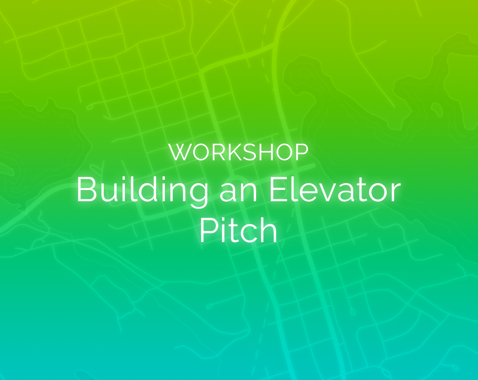 Workshop cover: Building an Elevator Pitch