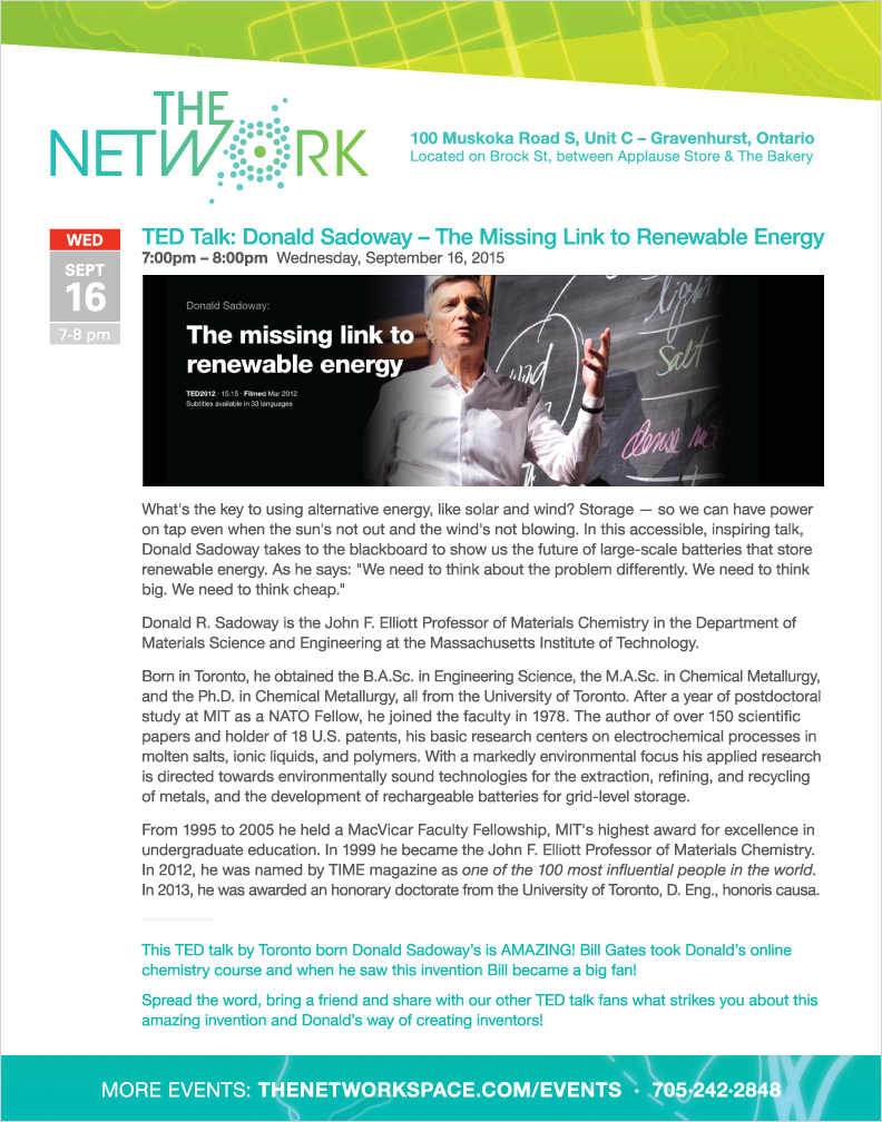The NetWork special event September 16, 2015 at 7pm