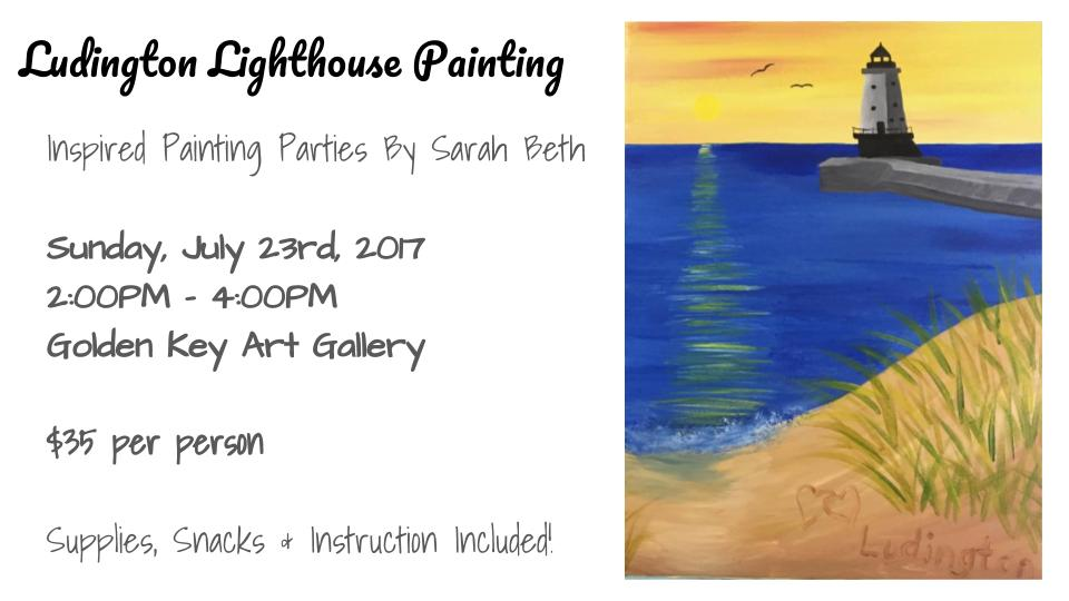 Follow the link below to order tickets! https://www.eventbrite.com/e/ludington-lighthouse-painting-at-golden-key-gallery-tickets-36206127502