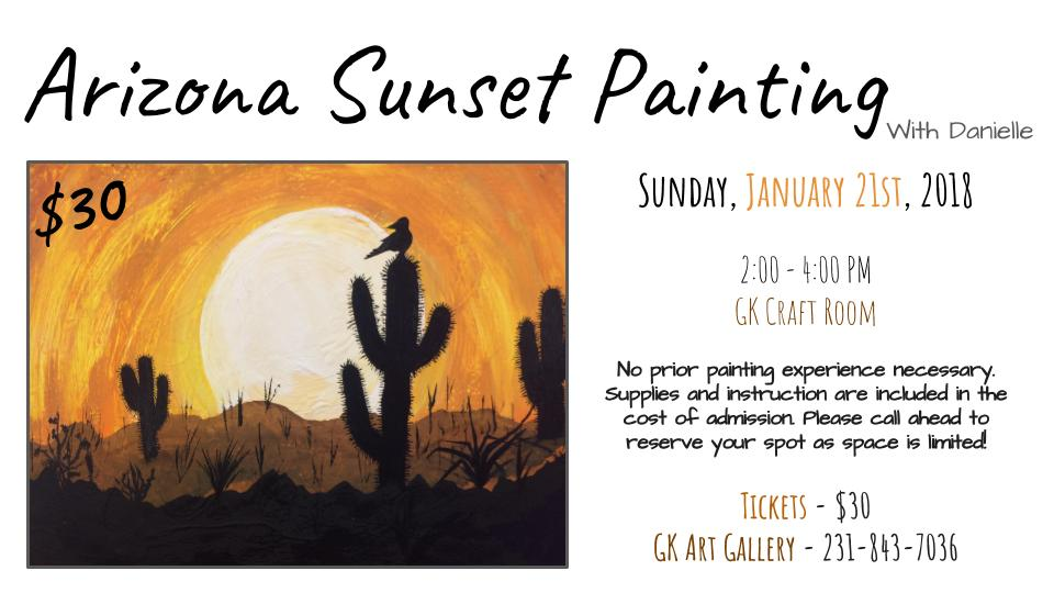 Golden Key Art Gallery - Arizona Sunset Painting Class - Sunday January 21 2018.jpg