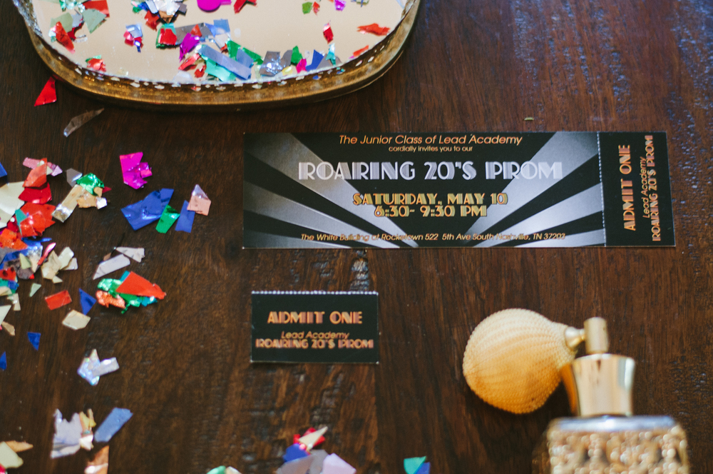 Great Gatsby Prom Invitation