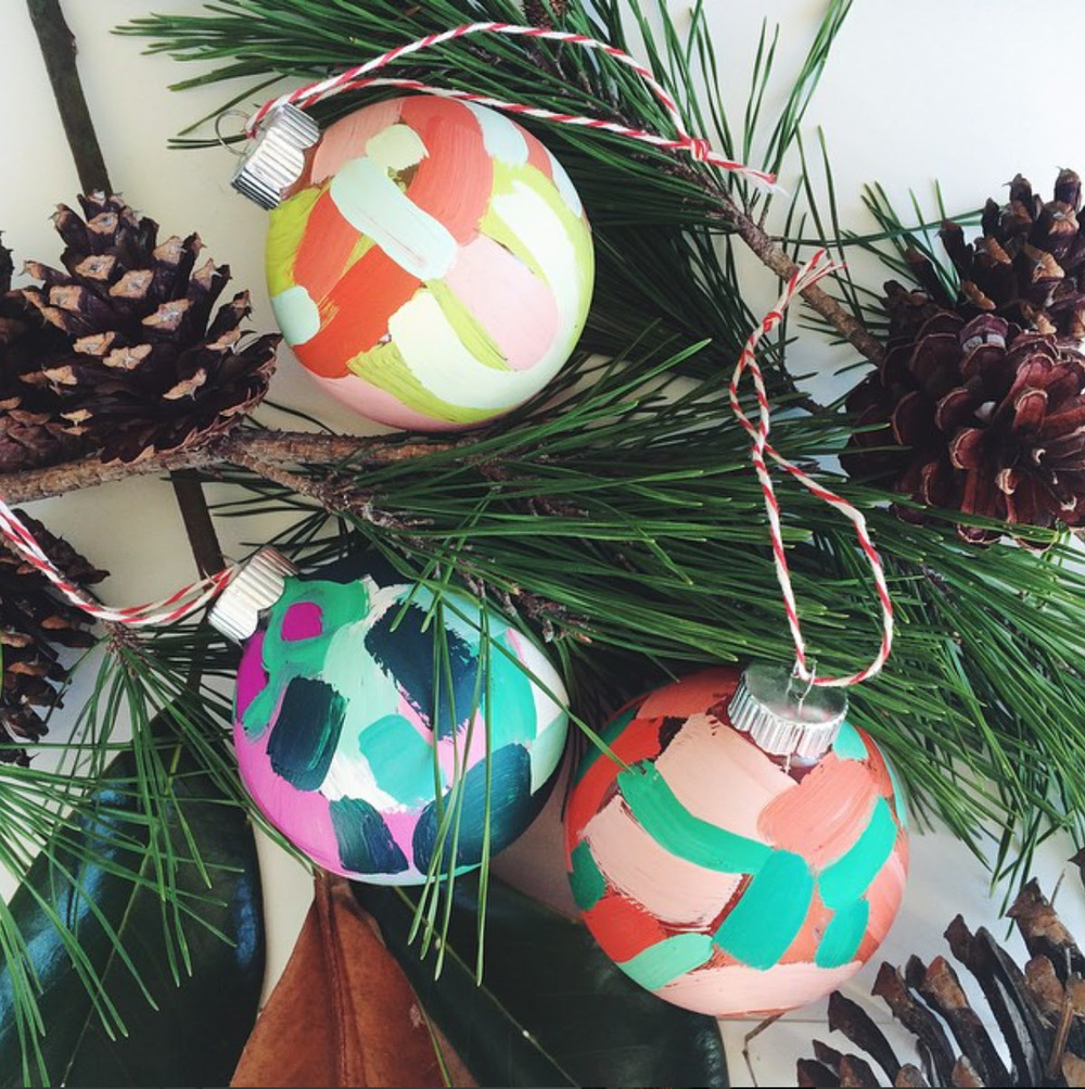Consider this your first sneak peek: Atlanta Artist Brit Bass creates hand-painted ornaments each year and I think they're just adorable. They're available for  pre-order  now!