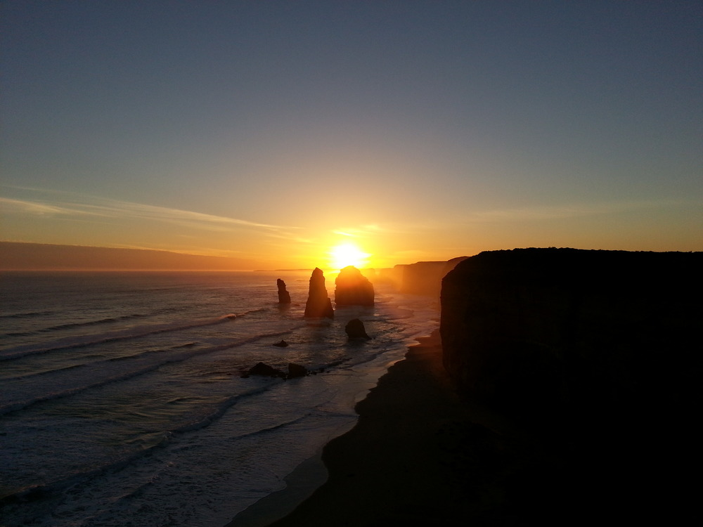 Copy of Distant Great Ocean Road sunset