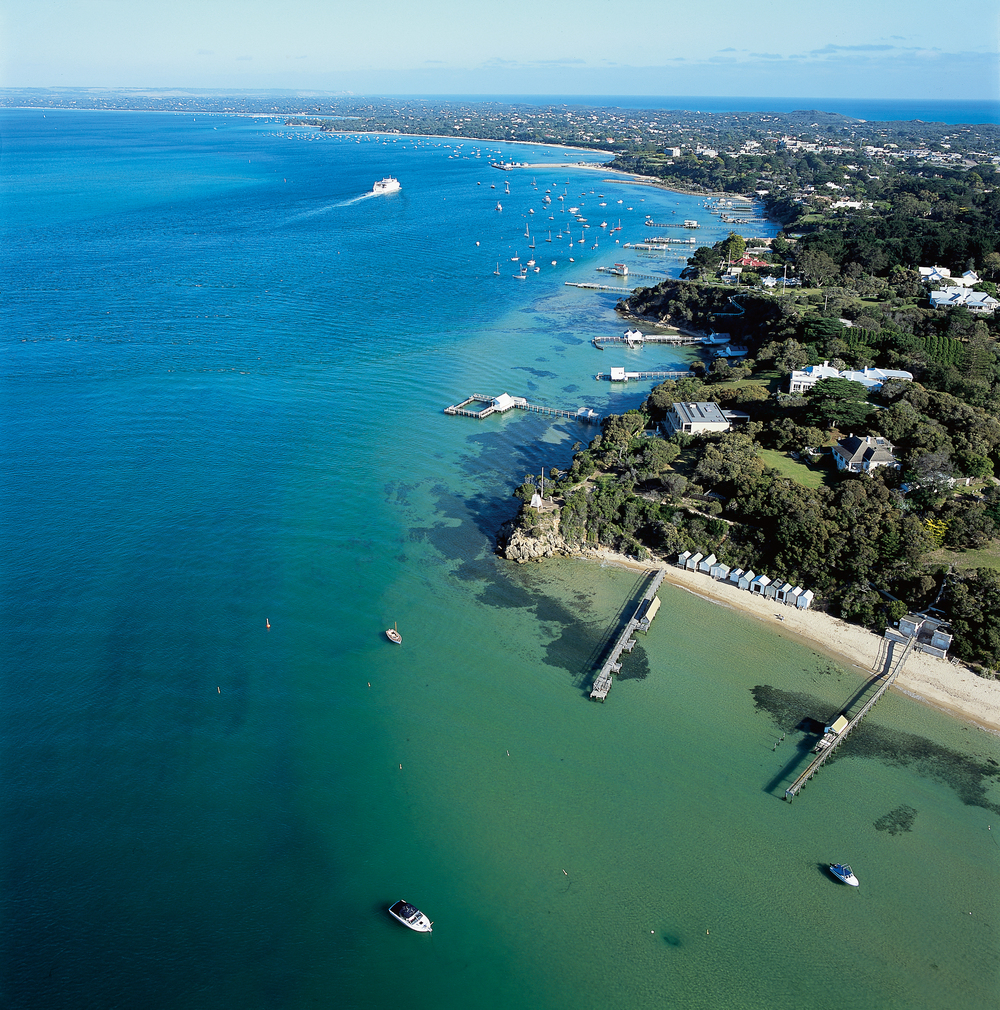 Aerial view of Mornington Peninsula
