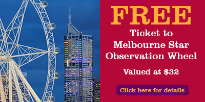 Free Ticket to Melbourne Star Observation Wheel