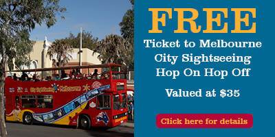Free Ticket to Melbourne City Sightseeing Hop On Hop Off Tour