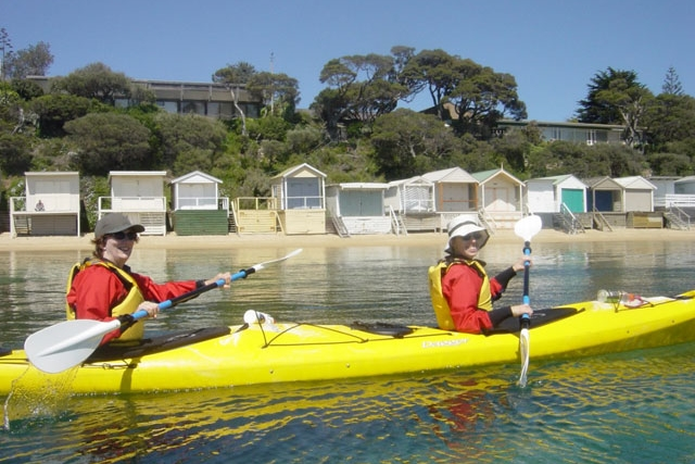 Kayaking in Mornington Peninsula Bay