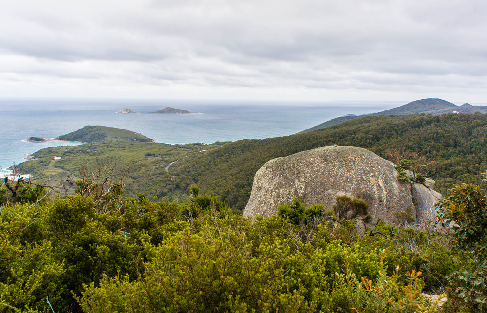 Ociean view from Wilsons Promontory