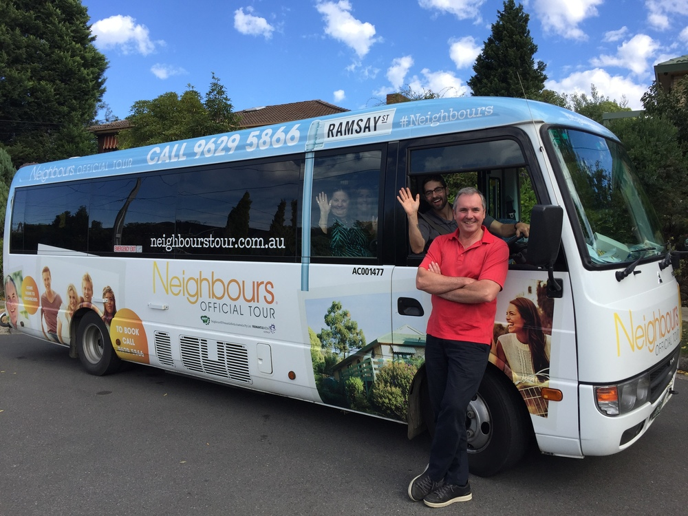 Bunyip Tour Bus & Neighbours TV Star