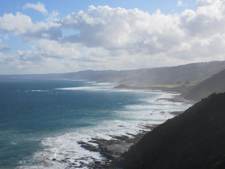 The Great Ocean Road winds along this scenic coastline