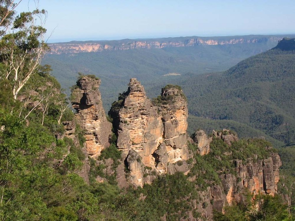 Three Sisters Rock Formations