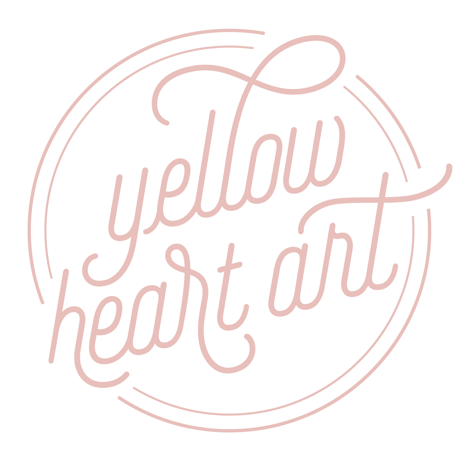 Yellow Heart Art