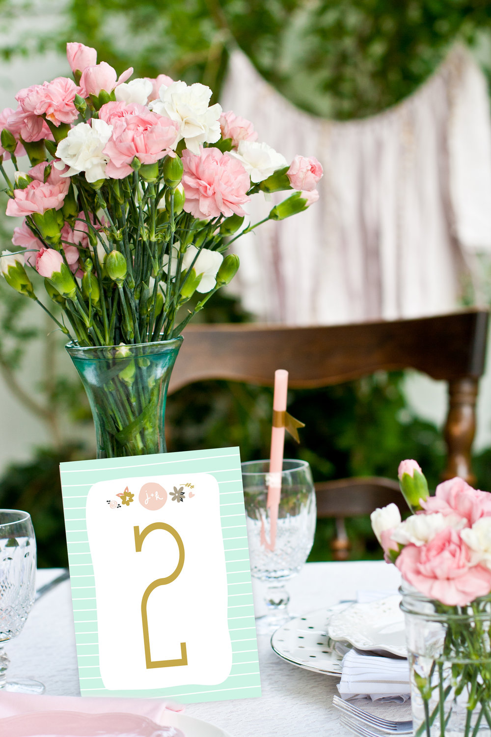 mint green table numner.jpg
