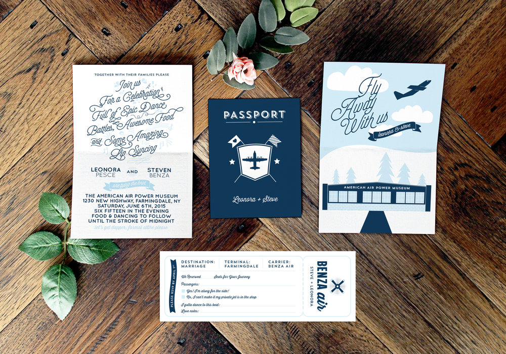 Passport Wedding Invitation Suite