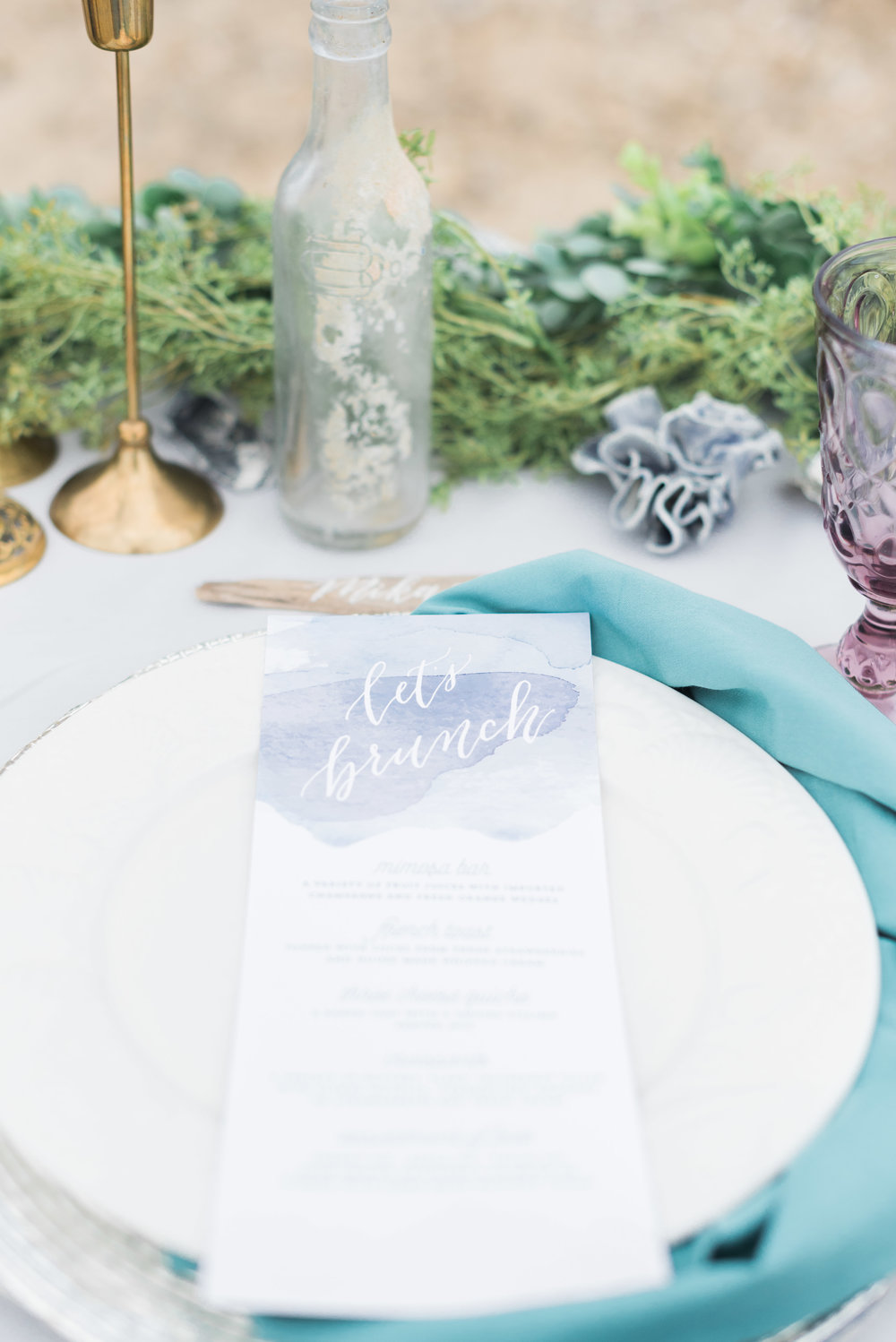 mermaid watercolor bridal shower brunch