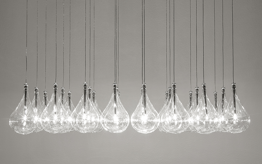 reThink Black and White Unique Chandelier light